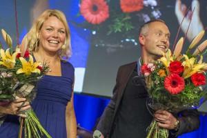 Anna Bjelm och Henrik Nyström på Lean Forum 2015. Fotograf: Filip Järnehag.