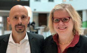 Niklas Ansgariusson och Monika Wendleby.